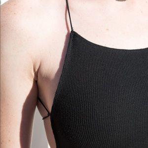 Brandy Melville Other - Brandy melville rose bodysuit criss cross open bck